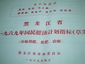 黑龙江省一九六九年国民经济计划指标[草案]市场用煤、化肥、农药 3页