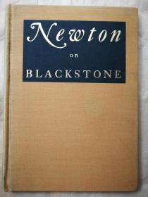 """1937年 著名藏书家""""藏书之爱""""《纽顿论黑石 Newton on Blackstone》限量编号2000册 纽顿签名 精装毛边"""
