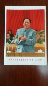 毛主席在九大开幕式上 有版权画页