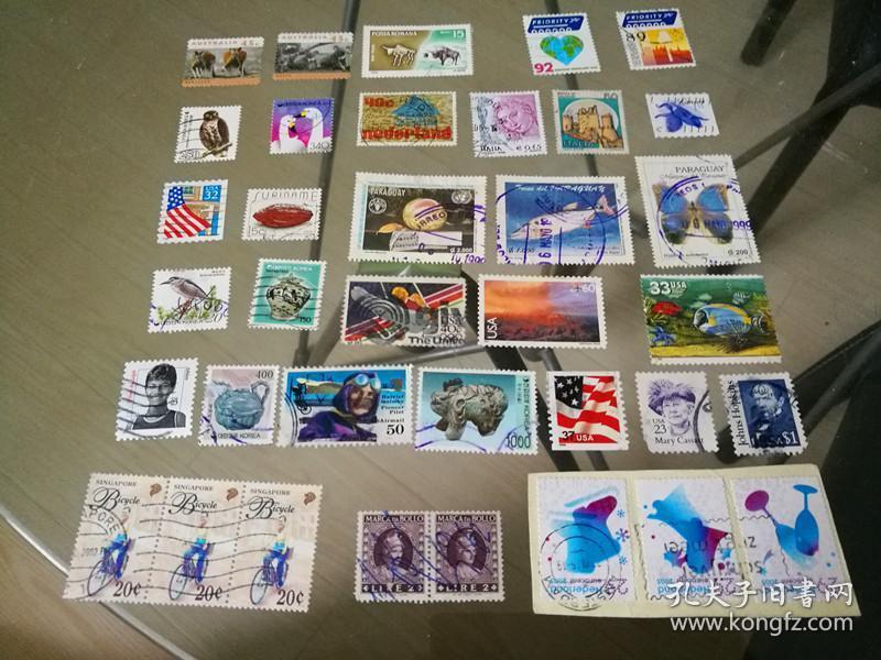 外国邮票一组,