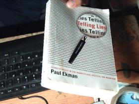 Telling Lies: Clues To Deceit In The Marketplace Politics And Marriage   八五品稍弱       C5