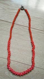 白珊瑚染色项链
