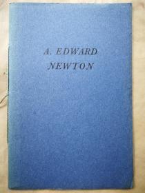1940年  国会图书馆珍本馆《致敬纽顿1940圣诞节》 仿纽顿自印蓝色小册子 小32开 限量1000本