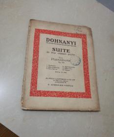 D0HlNANYI S∪TE古典组曲(英文原版五十年代或以前出版)详见图