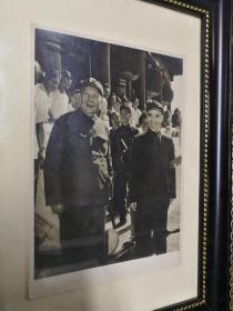 杜修贤拍摄毛主席林彪天安门城楼银盐手工印放照片