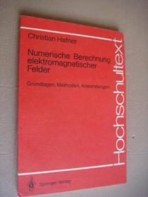 Numberische Berechnung elektromagnetischer Felder:Grundlagen,Methoden,Anwendungen  电磁场效应的数学研究专业书。书名见图