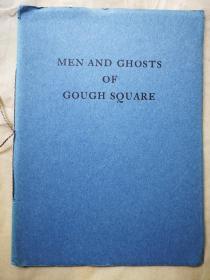 """1930年  """"藏书之爱""""纽顿橡丘庄自印本《MEN AND GHOSTS OF GOUGH SQUARE》 纽顿题赠本 自印蓝色小册子 小32开 24页"""