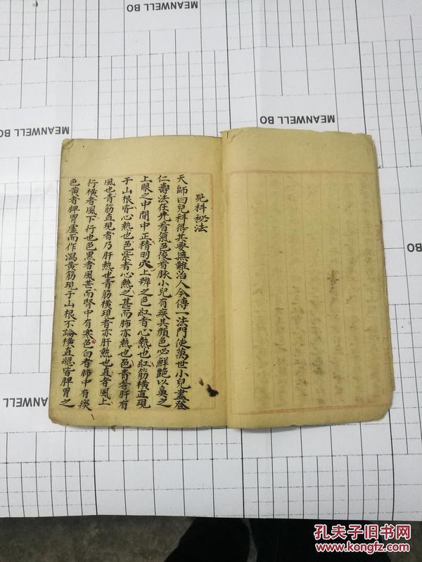 稀见中医手钞秘本 《天师、真人秘传神方秘本》一册全