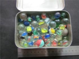 80后童年回忆~老玻璃弹珠玻璃球一组大中小花色不解释。第二十五弹