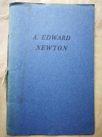 1940年  国会图书馆珍本馆《致敬纽顿1940圣诞节》 仿纽顿自印蓝色小册子 小32开 限量1000本(另一本)