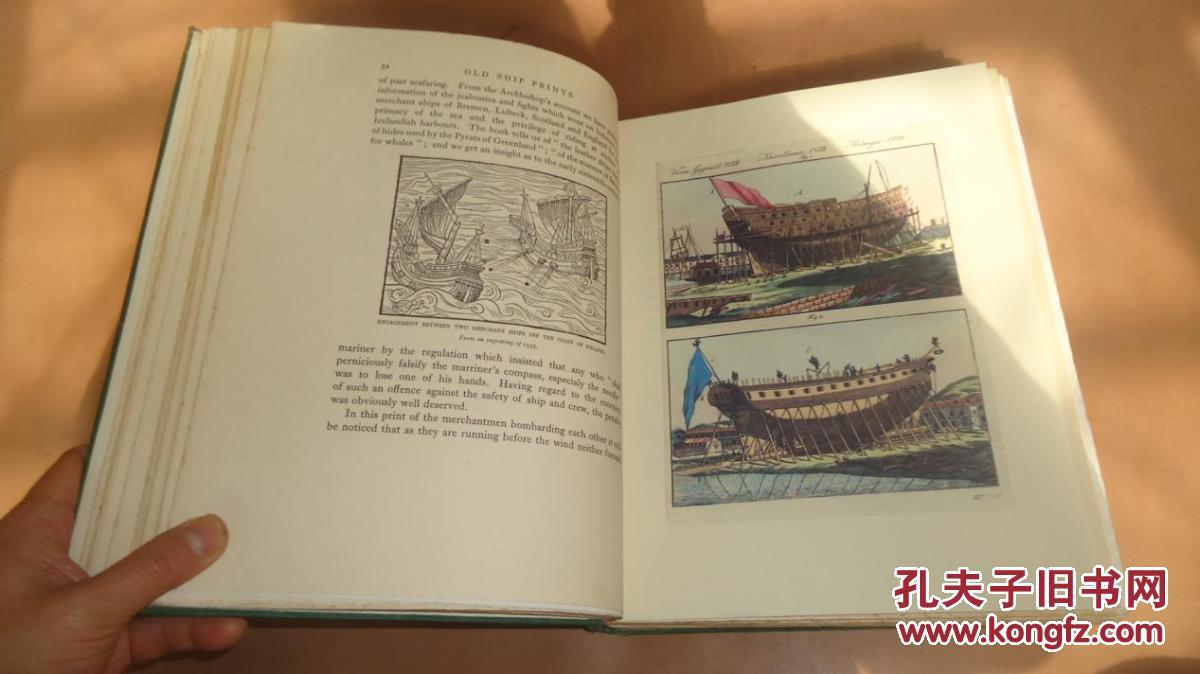 1927年old ship prints《古船舶版画图集》初版本 大开本老画册 大量图片