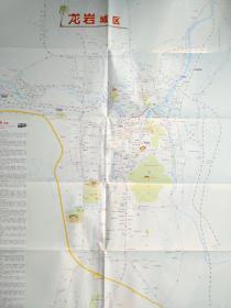 龙岩市交通旅游图 龙岩地图 龙岩市地图 龙岩交通图 龙岩旅游图