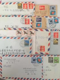 日本实寄封28封带精美邮票