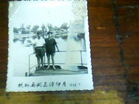 老照片 2寸杭州西湖三潭印月1982.7