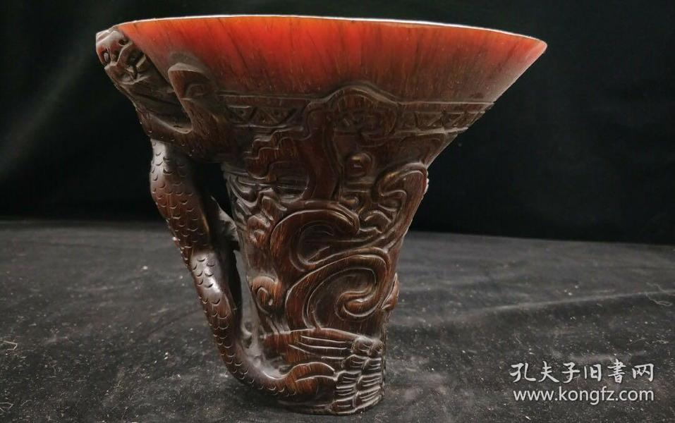 犀牛角杯,重量763g代理转图可以加价,运费自理。