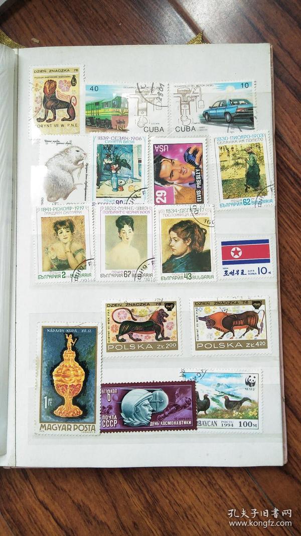 外国邮票.37枚