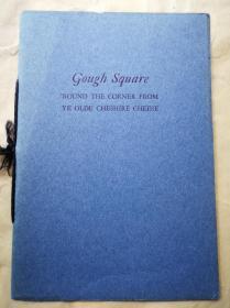 """1937年  """"藏书之爱""""纽顿自印本《GOUGH SQUARE》 纽顿签名本 自印蓝色小册子 小32开 20页"""