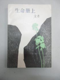 生命册上  浙江文艺出版社1984年 32开平装