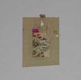 60年代风景书签(小巧,纸贴布)