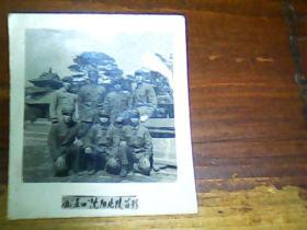 老照片 2寸沈阳北陵留念61年7位军人