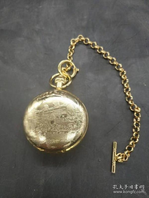 鎏金怀表(长期有货,可以正常使用),重量107克。代理可以转图加价,运费自理。