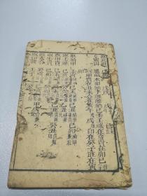 清代风水木刻本【地理铅弹子】一册(卷七)