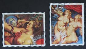 巴拉圭邮票----名画(盖销票)
