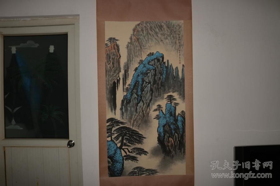 名人手绘山水画,全部手绘,包老保真