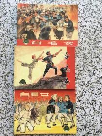 三个版本白毛女(3册全)(2001年1版1印 上海连环画精品百种 华三川等绘 )