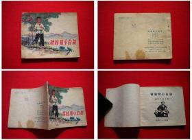 《铁娃与小白鸽》,60开集体绘,山东1975.1出版8品, 2497号,连环画