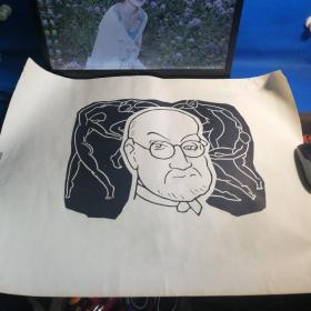 手工丝网刷八十年代版画《哥德巴赫猜想》,美术纸