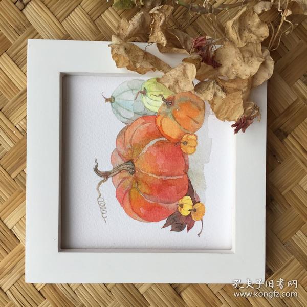 水彩画《南瓜》1