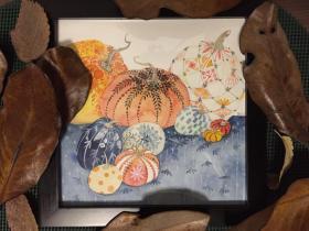 水彩画《南瓜》2