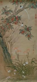 清,蒋廷锡  《扬梅练雀》蒋廷锡(1669年—1732年),字酉君、杨孙,号南沙、西谷,又号青桐居士。清朝前期政治人物、画家。汉族,江苏常熟人。康熙四十二年(1703年)进士,雍正年间曾任礼部侍郎、户部尚书、文华殿大学士、太子太傅等职,是清朝重要的宫廷画家之一。