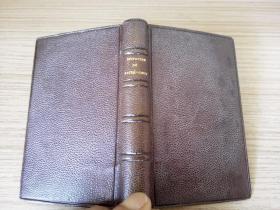 1878年法文古书《DU SACRE COEUR DE JESUS》(耶稣圣心堂),精致小本精装,书口刷金,品佳