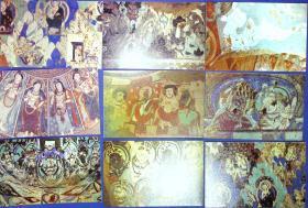 360010177龟兹壁画明信片一套20张