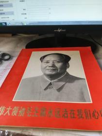 伟大领袖毛主席永远活在我们心中彩色图