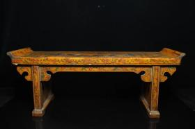 清代官宦之家摆件漆器小供桌