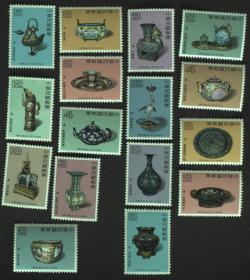 台湾邮政用品、邮票、新邮票,古物、文物、台湾珐琅器邮票大全套