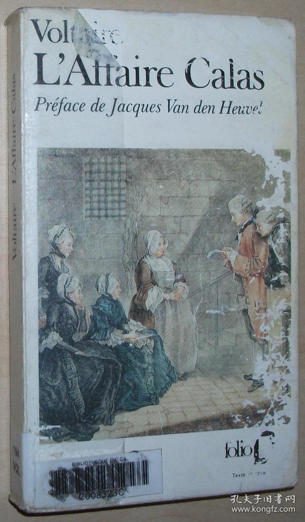 法语原版书 LAffaire Calas Poche – 1975 de Voltaire  (Auteur), Jacques Van den Heuvel (Préface)