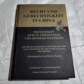 Recht und Gerechtigkeit in China - Festschrift zum 75. Geburtstag von Konrad Wegmann: Beiträge des Symposiums vom 8.汉学论坛丛书第21册  实质正义与形式正义