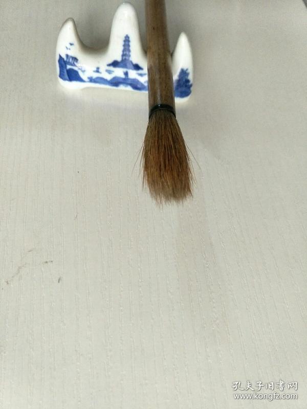 老毛笔,红双喜牌大兰竹笔狼毫,善联含山湖笔厂,尺寸27X3.5X0.8