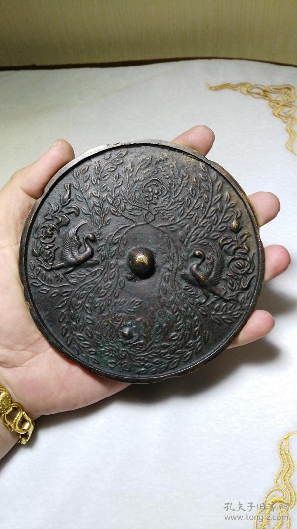 收钱币收的 玄鸟铜镜子