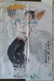 """师贾又福,河北名家、沧州画院画师张保民""""闽南风情""""人物画"""