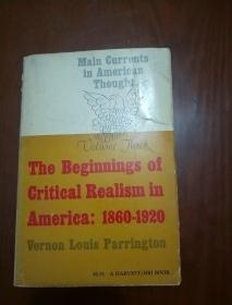 The Beginnings of Critical Realism in America 1860-1920