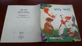 【文革连环画】Wily Wolf狡猾的大灰狼 英文版24开彩色连环画