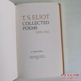 【包邮】1976年真皮精装限量收藏版T S Eliot collected poems 1909-1962 《艾略特诗集》 franklin library作者 Eliot