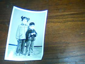老照片 2寸儿童照