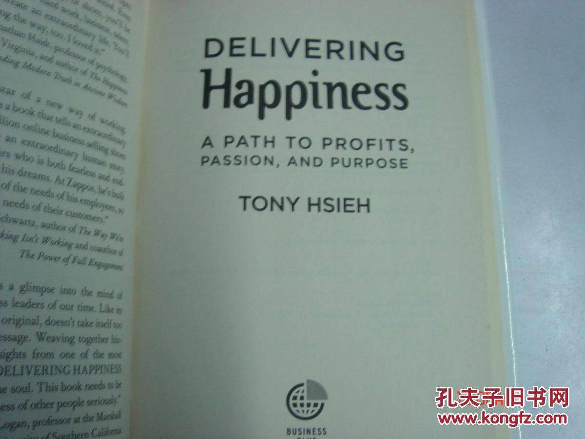 delivering happiness - a path to profits, passion