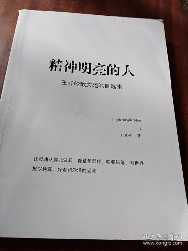 精神明亮的人:王开岭散文随笔自选集